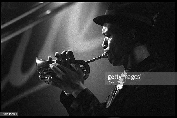 VENUE Photo of Don CHERRY Jazz musician Don Cherry performing on stage trumpet profile