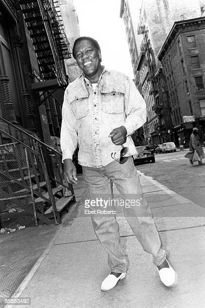 Photo of Don COVAY; Posed portrait of Don Covay, in the street