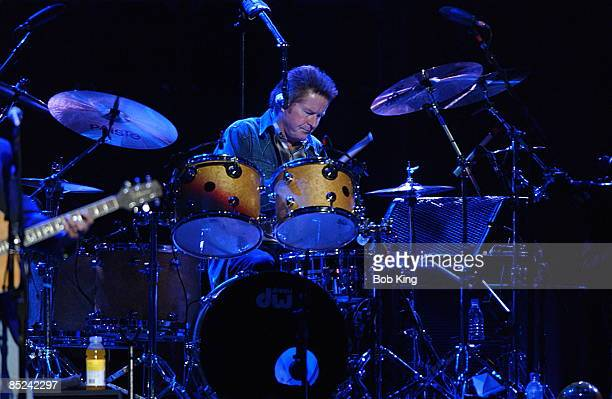 Photo of Don HENLEY and EAGLES Don Henley performing live onstage at Sydney Superdome playing drums