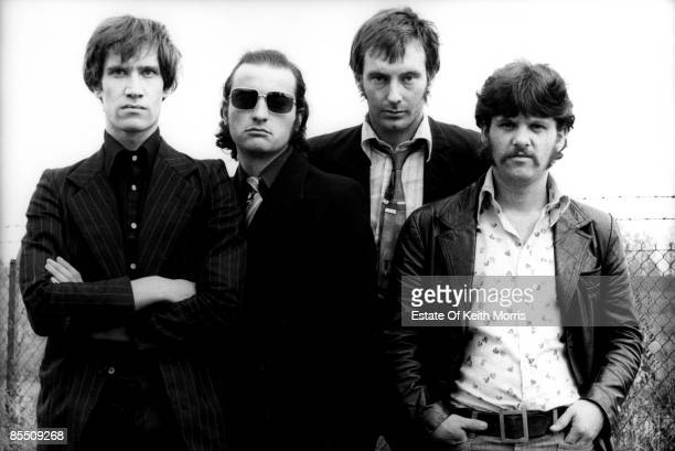 ISLAND Photo of DR FEELGOOD Group portrait LR Wilko Johnson John Martin Lee Brilleaux and John B Sparks