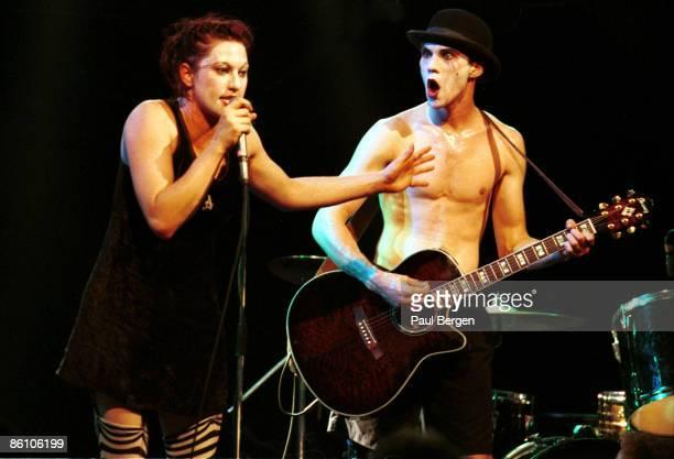 Photo of DRESDEN DOLLS 2192004 AmsterdamMelkweg The Dresden Dolls Piano and vocals Amanda Palmerdrums and vocals Brian Viglione