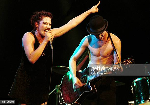 Photo of DRESDEN DOLLS 2192004 AmsterdamMelkweg The Dresden Dolls Piano and vocals Amanda Palmerdrums and vocals Brian Viglione