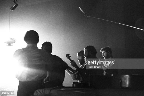 Photo of DUBLINERS The Dubliners performing at an Irish concert at Cecil Sharp House LR Ciaran Bourke Ronnie Drew Bobby Lynch Barney McKenna and John...