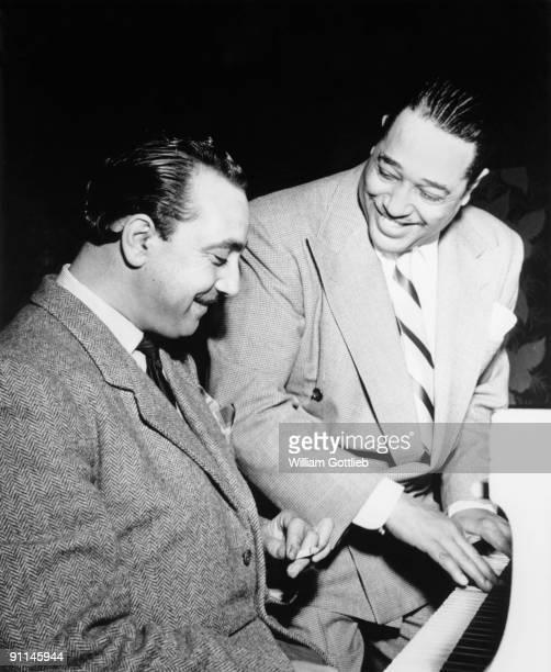 Photo of Duke ELLINGTON and Django REINHARDT with Duke Ellington