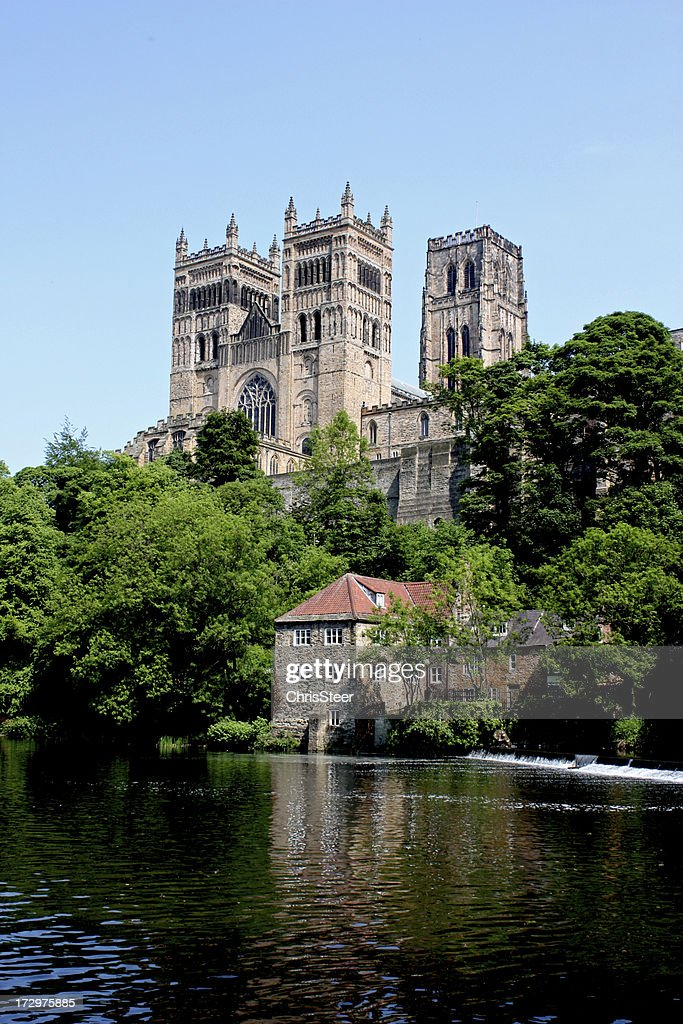 Photo of Durham Cathedral taken from across the river : Stock Photo