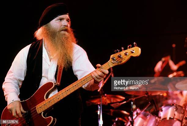 USA Photo of Dusty HILL and ZZ TOP Dusty Hill performing live onstage playing Fender Precision bass