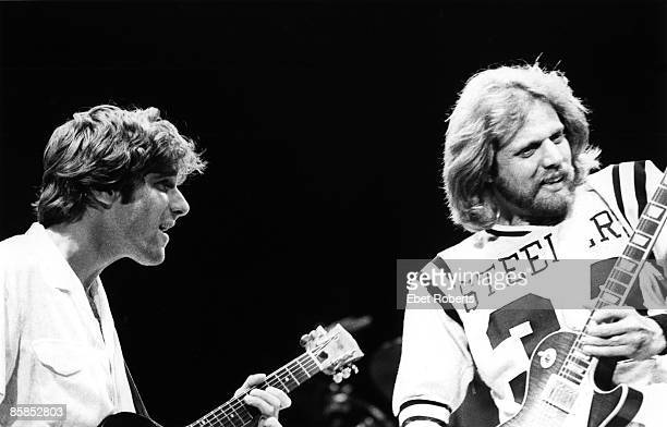 GARDEN Photo of EAGLES and Don FELDER and Glenn FREY Glenn Frey and Don Felder performing on stage