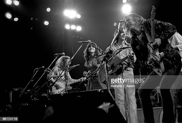Photo of EAGLES and Glenn FREY and Linda RONSTADT and Jackson BROWNE and Joe WALSH LR Glenn Frey Linda Ronstadt Jackson Browne and Joe Walsh...