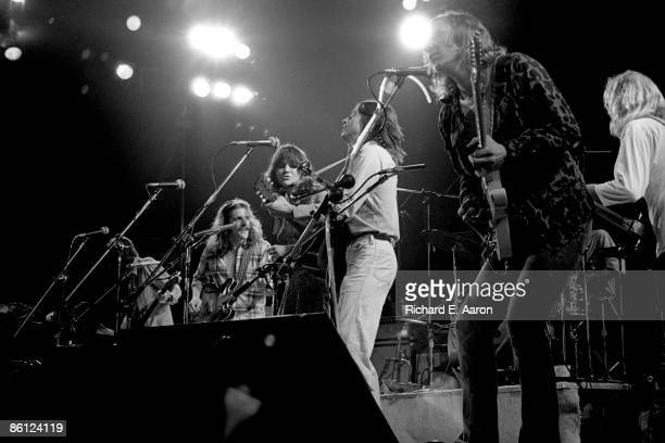 Photo of EAGLES and Glenn FREY and Linda RONSTADT and Jackson BROWNE and Joe WALSH and Randy MEISNER and Don FELDER; L-R Randy Meisner, Glenn Frey,...