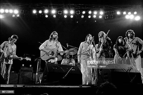 Photo of EAGLES and Linda RONSTADT and Jackson BROWNE and Joe WALSH and Randy MEISNER and Don HENLEY; L-R Randy Meisner, Dan Fogelberg, Don Henley,...