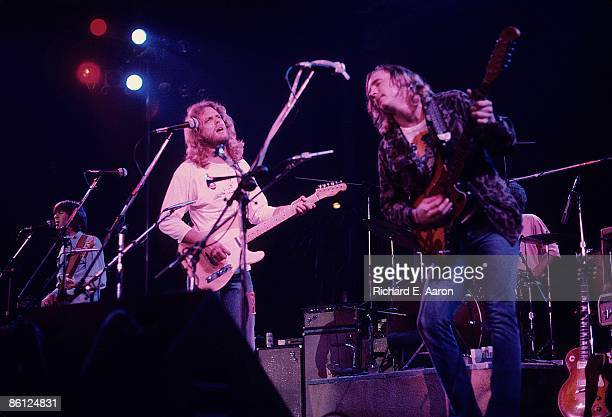 Photo of EAGLES and Randy MEISNER and Don FELDER and Joe WALSH LR Randy Meisner Don Felder and Joe Walsh performing on stage