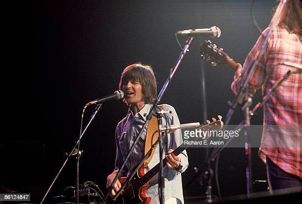 Photo of EAGLES and Randy MEISNER; Randy Meisner performing on stage