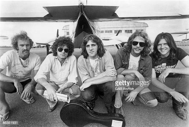 Photo of EAGLES; Bernie Leadon, Don Henley, Glenn Frey, Don Felder, Randy Meisner