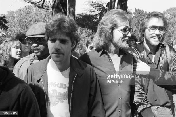 FRANCISCO Photo of EAGLES Eagles 8/03/1980 Golden Gate Park San Francisco at KFRC charity marathon Glenn Frey Don Felder