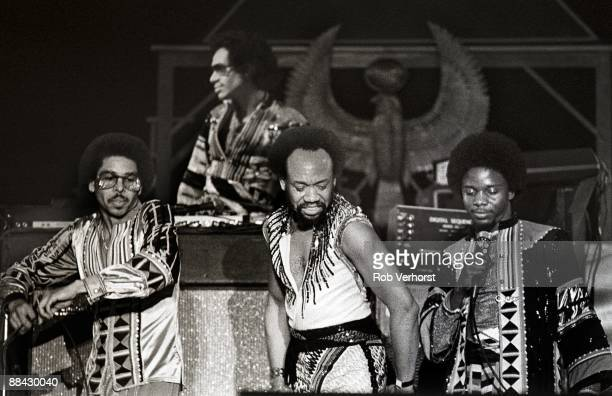 AHOY Photo of EARTH WIND FIRE and Ralph JOHNSON and Maurice WHITE and Philip BAILEY LR Ralph Johnson Maurice White and Philip Bailey performing on...