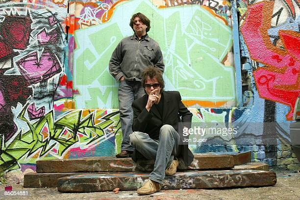 Photo of Echo and the Bunnymen Pic shows Ian McCulloch and Will Sergeant of Echo and the Bunnymen Liverpool
