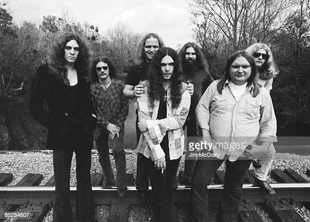 USA Photo of Ed KING and Artimus PYLE and Gary ROSSINGTON and LYNYRD SKYNYRD and Billy POWELL and Allen COLLINS and Ronnie VAN ZANT and Leon WILKESON...
