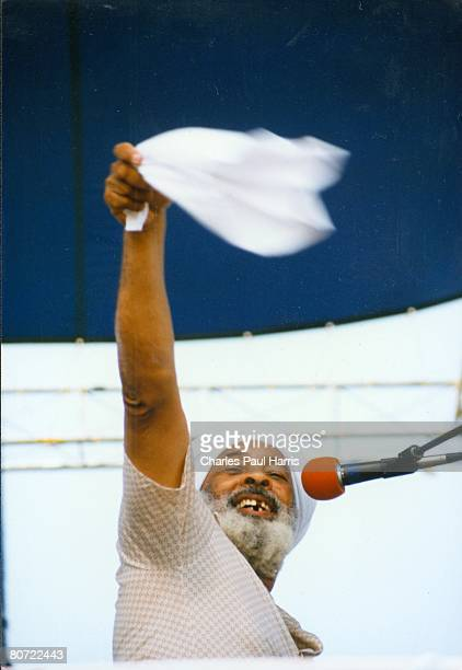 Photo of Eddie Bo at the New Orleans Jazzfest 1989
