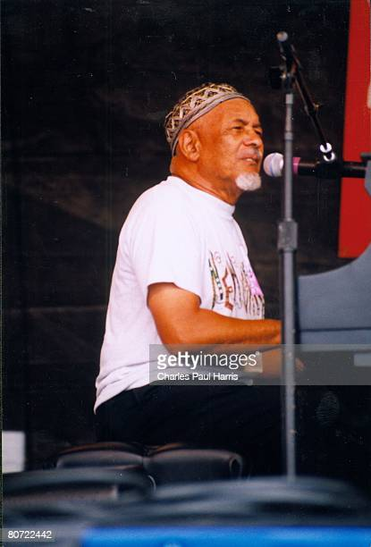 Photo of Eddie Bo at the New Orleans Jazzfest 1999