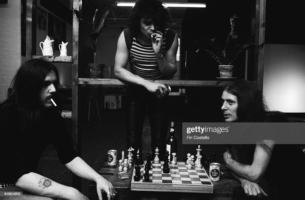 Photo of Eddie CLARKE and LEMMY and MOTORHEAD and Phil TAYLOR : News Photo