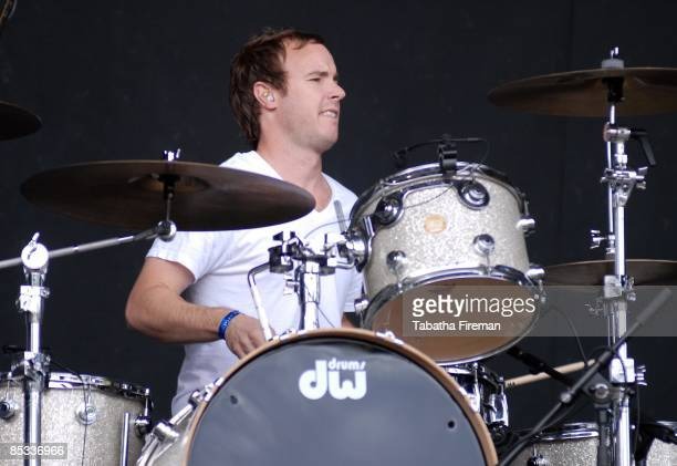 FESTIVAL Photo of Eddie FISHER and ONEREPUBLIC Drummer Eddie Fisher performing on stage