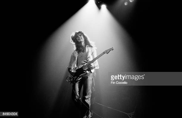 Photo of Eddie VAN HALEN and VAN HALEN, Eddie Van Halen performing on stage