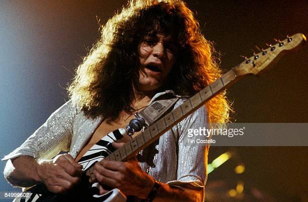 THEATRE Photo of Eddie VAN HALEN and VAN HALEN Eddie Van Halen performing live onstage