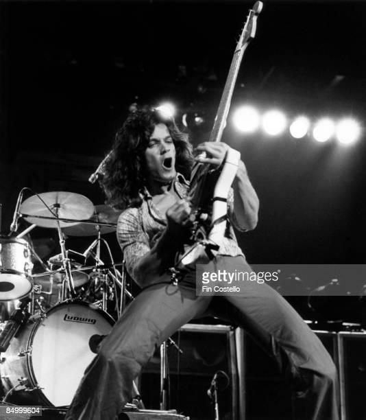 Photo of Eddie VAN HALEN and VAN HALEN, Eddie Van Halen performing live onstage