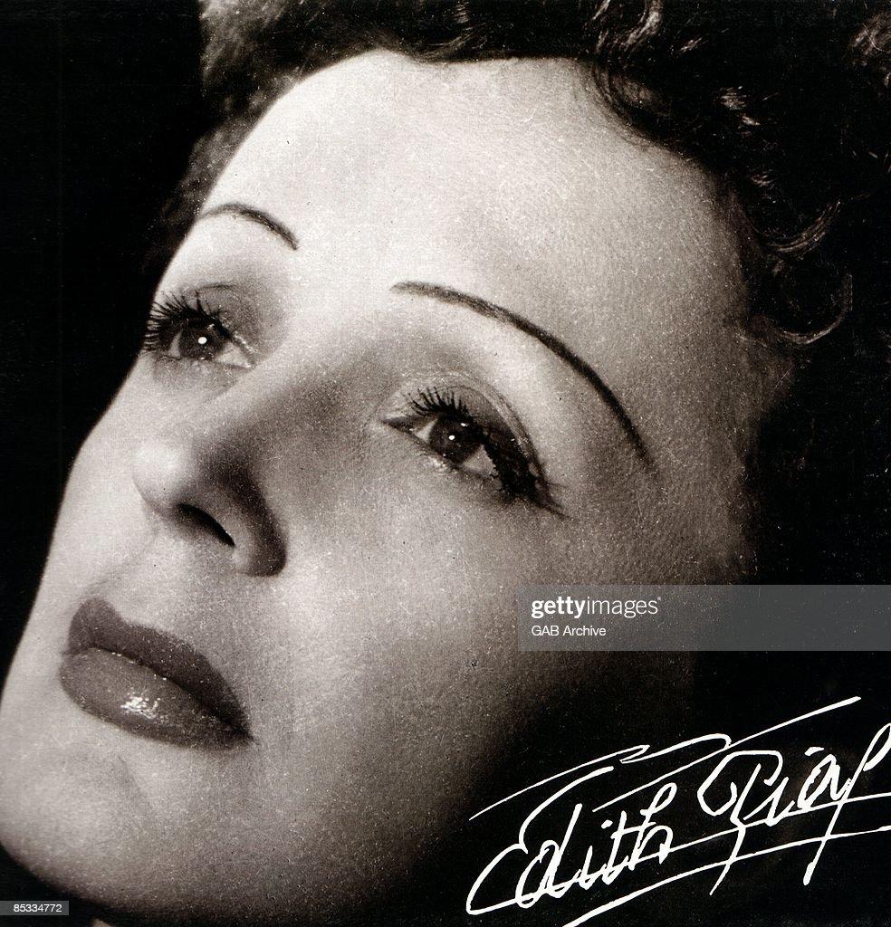 Photo of Edith PIAF; Posed portrait of Edith Piaf