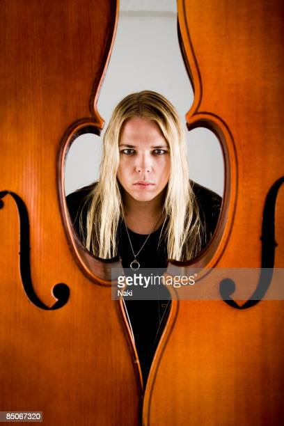 Photo of Eicca TOPPINEN and APOCALYPTICA Posed portrait of Eicca Toppinen at Blank Space Studios Camden