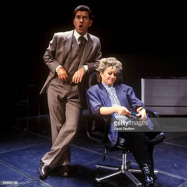 Photo of Elaine PAIGE and Tommy KORBERG and CHESS; Tommy Korberg and Elaine Paige performing in the musical Chess
