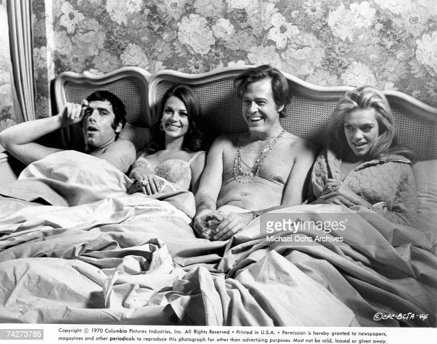 Photo of Elliott Gould Natalie Wood Robert Culp and Dyan Cannon in the film 'Bob Carol Ted Alice' Photo by Michael Ochs Archives/Getty Images
