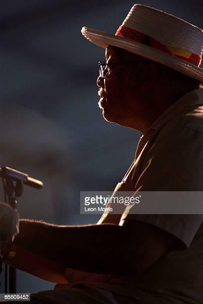 FESTIVAL Photo of Ellis MARSALIS Ellis Marsalis performing on stage