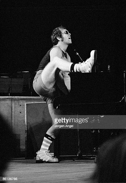 Photo of Elton JOHN Elton John Tivoli Gardens Copenhagen Denmark 1971