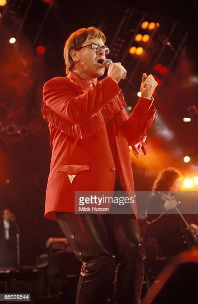 STADIUM Photo of Elton JOHN performing live onstage at Freddie Mercury Tribute Concert