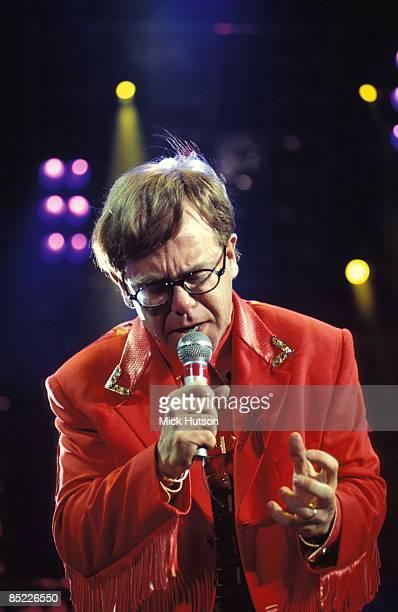 Photo of Elton JOHN, performing live onstage at Freddie Mercury Tribute Concert