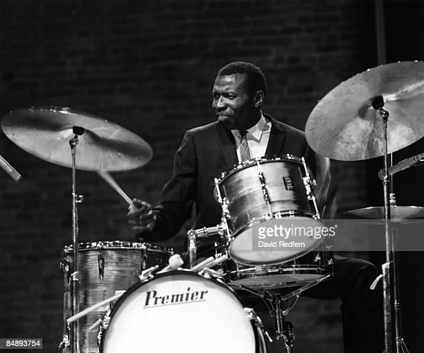MALTINGS Photo of Elvin JONES playing Premier drum kit drums