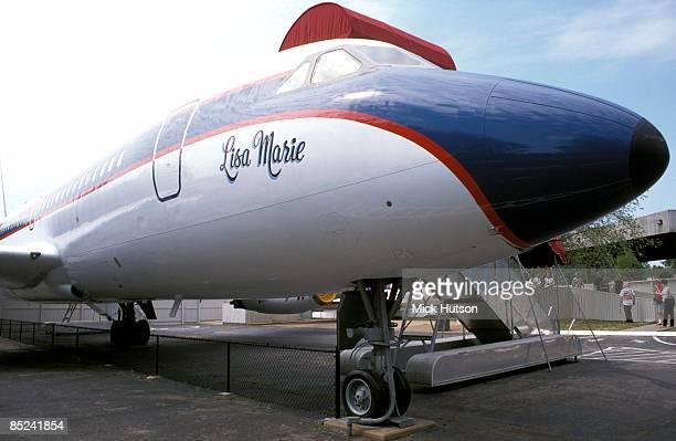 Photo of Elvis PRESLEY and GRACELAND; Elvis Presley's plane 'Lisa Marie'