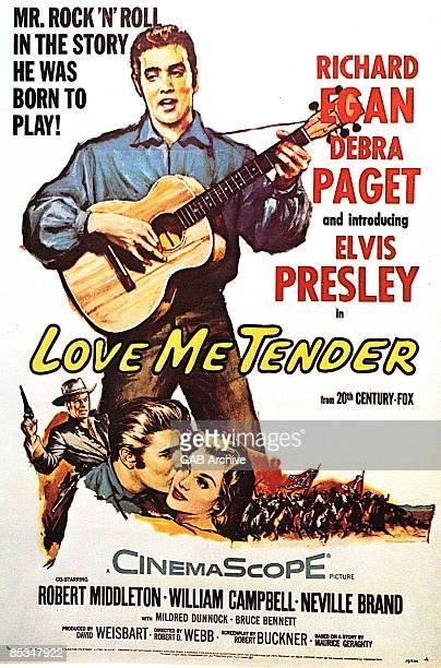 Photo of Elvis PRESLEY; Film poster for Love Me Tender