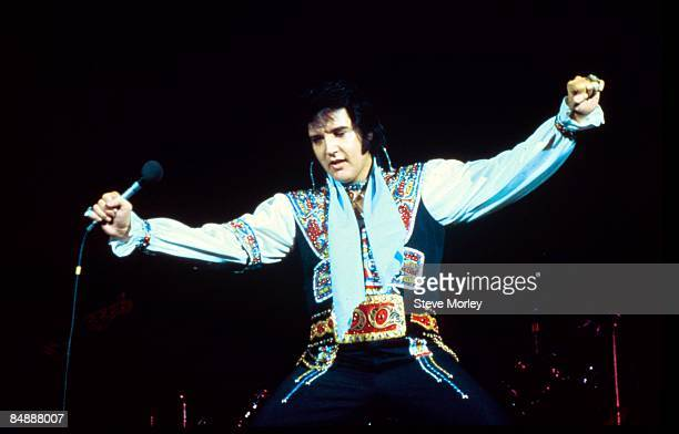 Photo of Elvis PRESLEY, performing live onstage