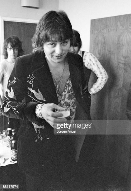 Photo of EMERSON LAKE & PALMER; Greg Lake, Emerson, Lake & Palmer ELP, Copenhagen, Denmark June 1972