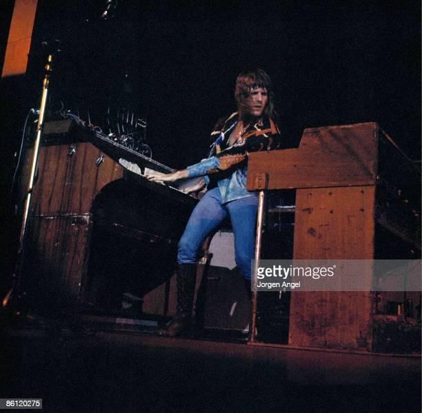 Photo of EMERSON LAKE & PALMER; Keith Emerson - ELP, Emerson, Lake & Palmer, June 8, 1972. Falkoner Center, Copenhagen, Denmark
