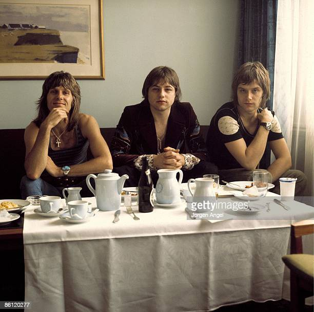 Photo of EMERSON LAKE & PALMER; Keith Emerson Greg Lake Carl Palmer, Emerson, Lake & Palmer ELP, Copenhagen, Denmark June 1972