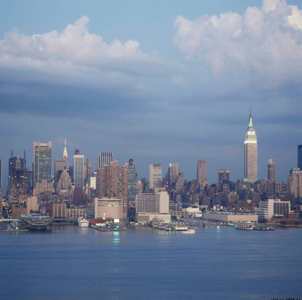 Photo Of EMPIRE STATE BUILDING And NEW YORK SKYLINE And NEW YORK CITY And SKYSCRAPERS Wall Art
