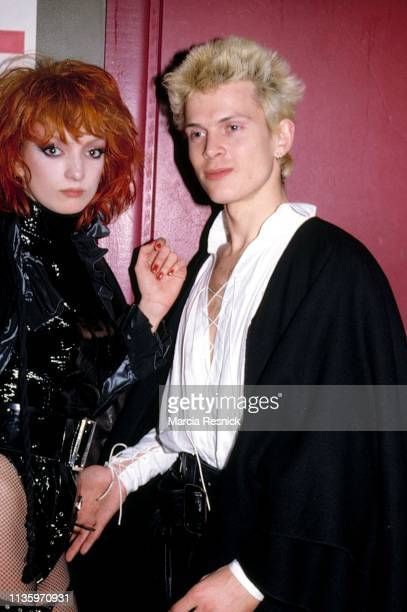 Photo of English couple dancer singer actress Perri Lister and Punk musician Billy Idol 1979