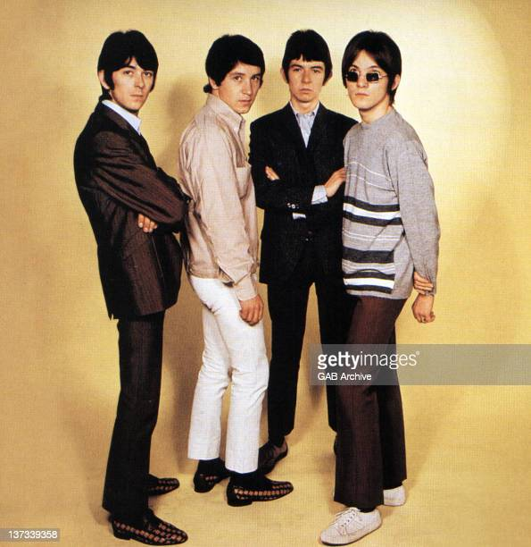 Photo of English group The Small Faces posed together in 1967. Left to right: Ian McLagan, Kenney Jones, Ronnie Lane and Steve Marriott.