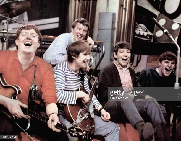 Photo of Eric BURDON and John STEEL and Hilton VALENTINE and ANIMALS and Chas CHANDLER and Alan PRICE, L-R: Chas Chandler, Hilton Valentine, John...