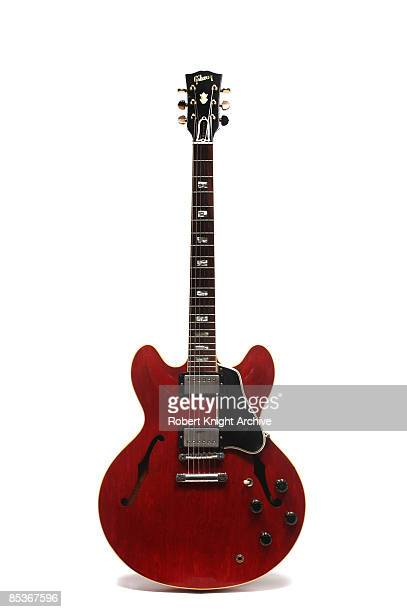 Photo of Eric CLAPTON and GUITAR and GIBSON ES300 SERIES GUITARS Eric Clapton's Gibson ES335 guitar still life studio