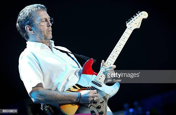 ARENA Photo of Eric Clapton Eric Clapton plays the Manchester Evening News Arena Pic Jim Sharp