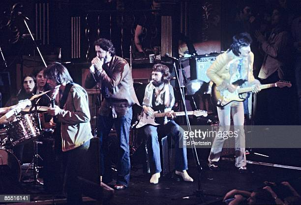 BALLROOM Photo of Eric CLAPTON Eric Clapton @ The Band's Last Waltz Winterland Arena San Francisco LR Neil Young Paul Butterfield Eric Clapton Ron...